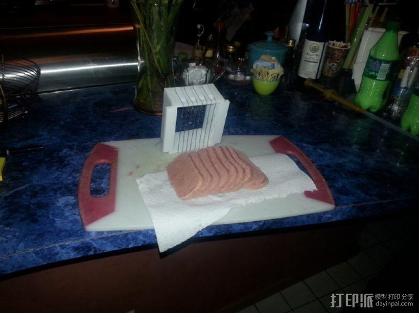 肉饭团切片器 3D模型  图1