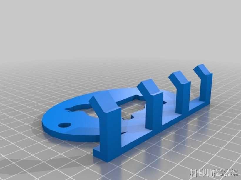 Corgi 4x 皮带钩 3D模型  图1