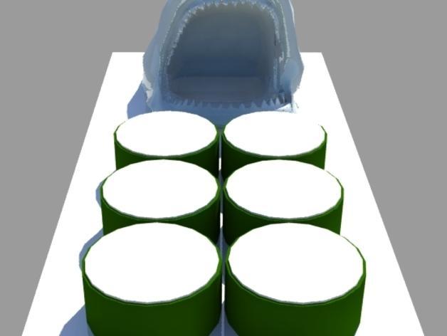 鲨鱼寿司盘 3D模型  图2