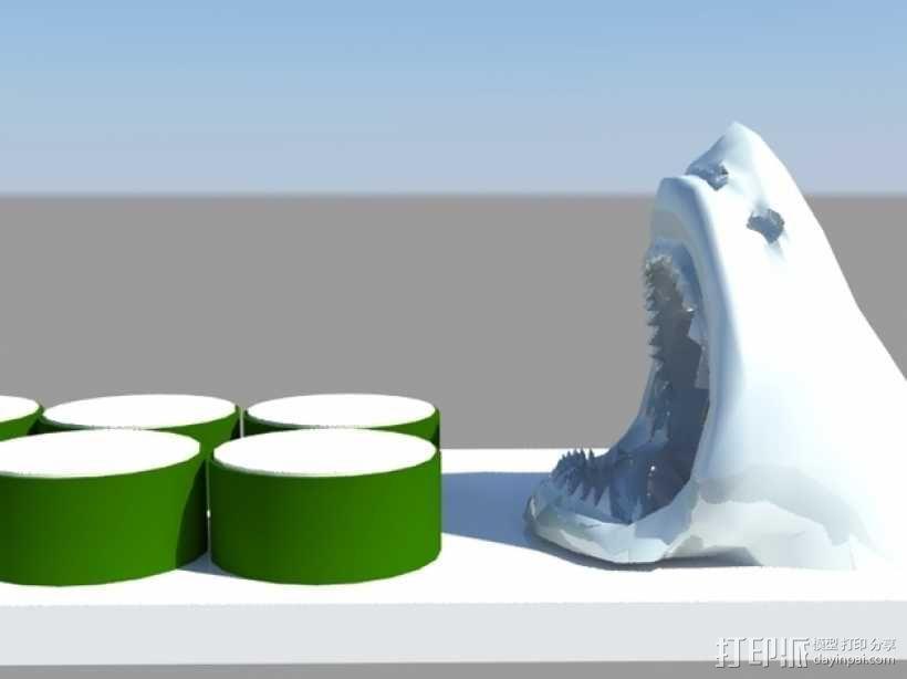 鲨鱼寿司盘 3D模型  图5