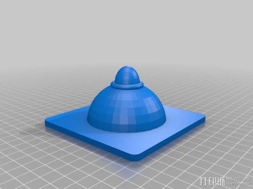 灯饰发光盒 3D模型  图2