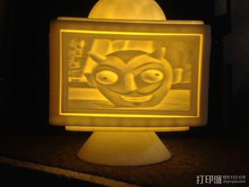 灯饰发光盒 3D模型  图1