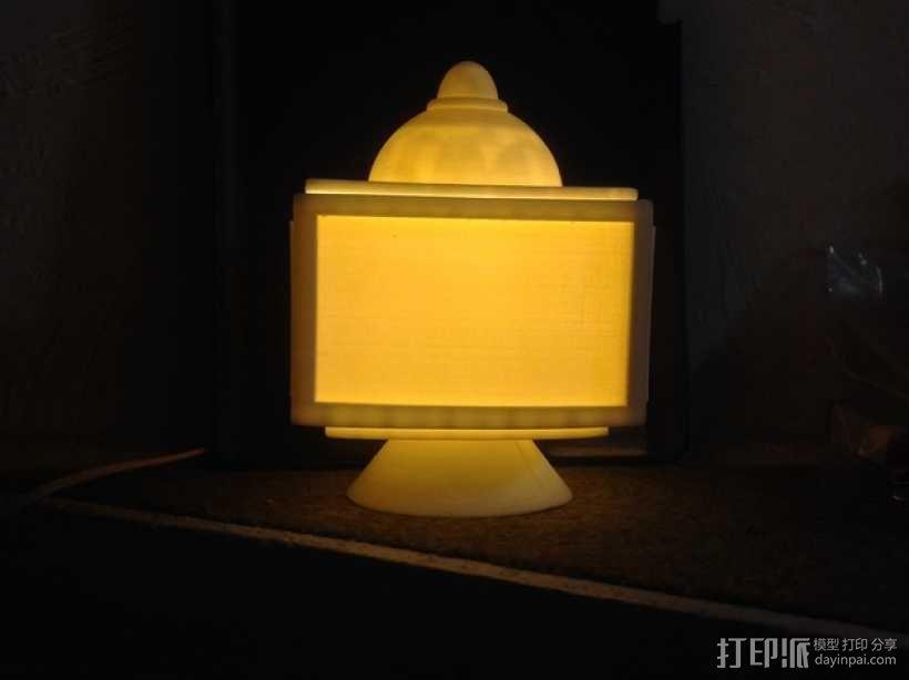 灯饰发光盒 3D模型  图4