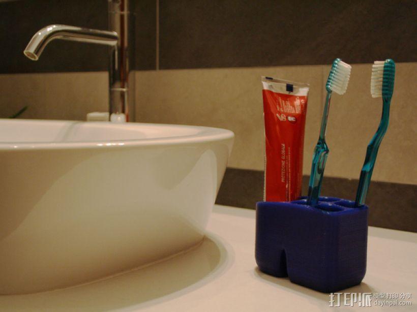 牙刷架 3D模型  图4