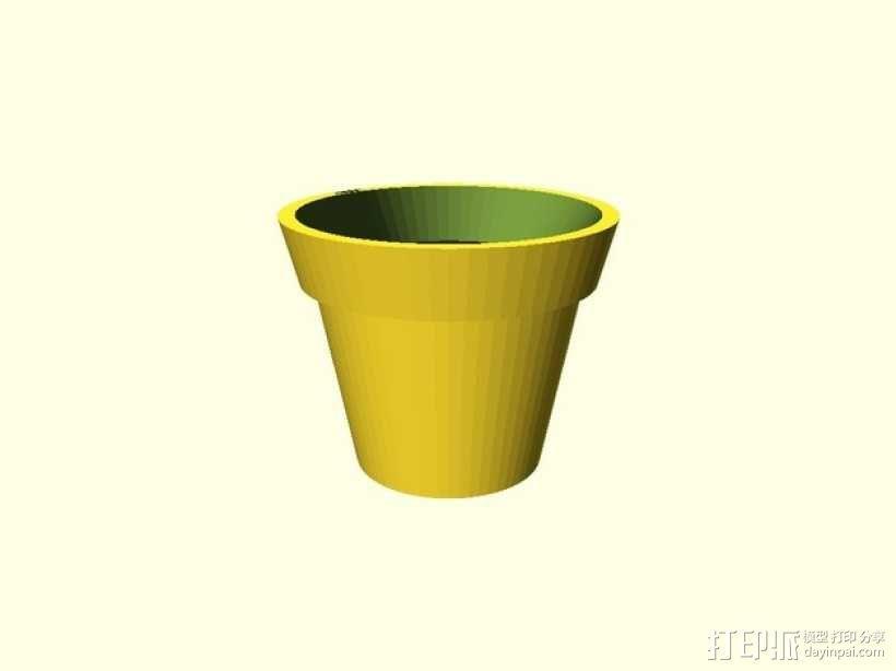 盆栽花盆 3D模型  图1