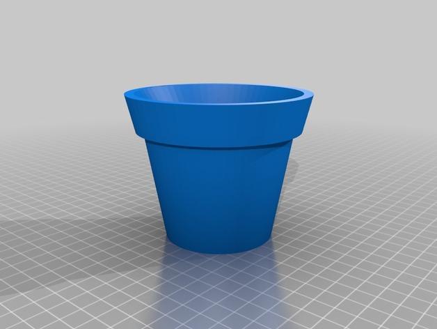 盆栽花盆 3D模型  图2