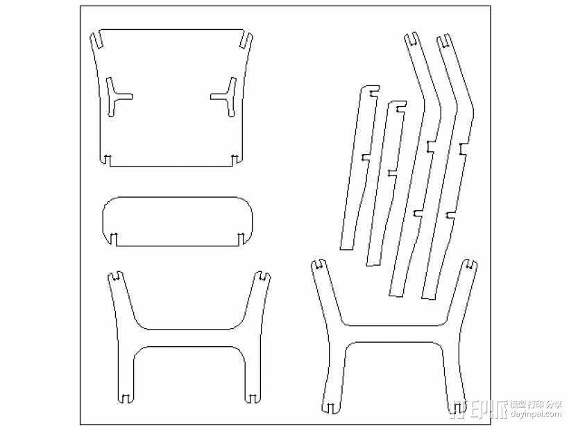 椅子 3D模型  图7