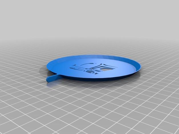 咖啡画图漏字板 3D模型  图2