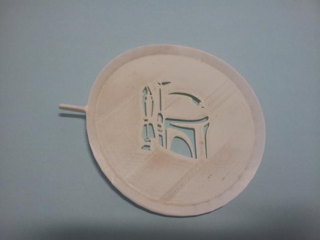 咖啡画图漏字板 3D模型  图3