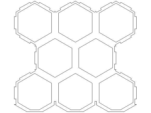 六边形红酒架 3D模型  图3