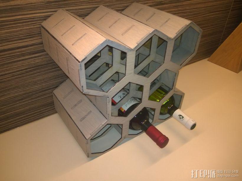 六边形红酒架 3D模型  图1