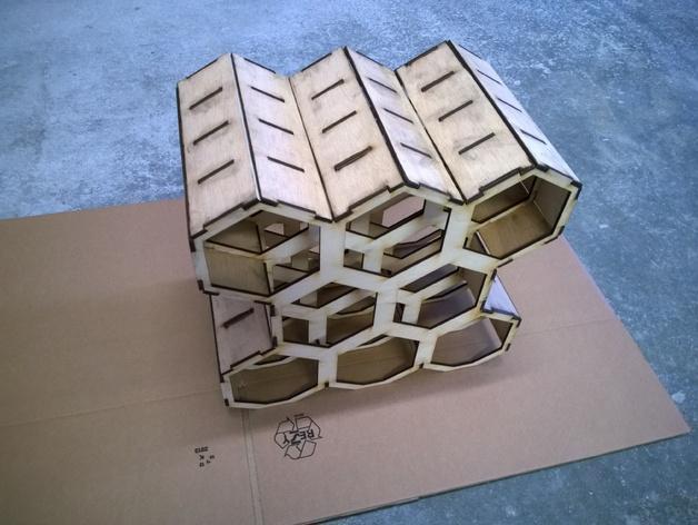 六边形红酒架 3D模型  图2
