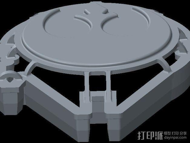 千年隼号 饼干模具 3D模型  图1