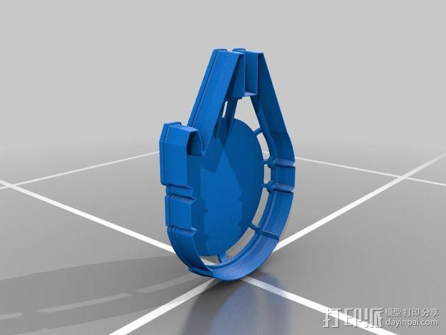 千年隼号 饼干模具 3D模型  图2