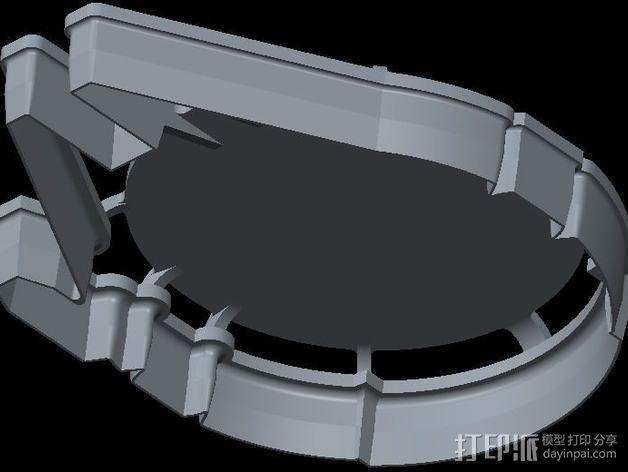 千年隼号 饼干模具 3D模型  图4
