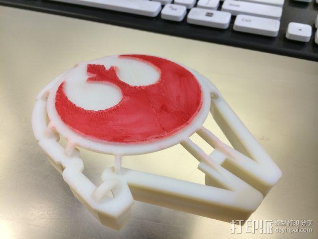 千年隼号 饼干模具 3D模型  图7