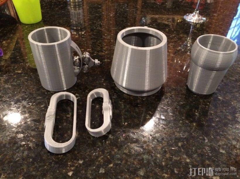 防震杯保护套 3D模型  图3