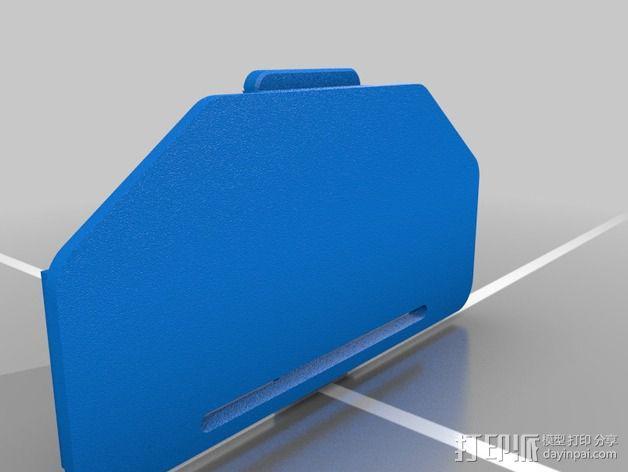 G700鼠标电池盖 3D模型  图2