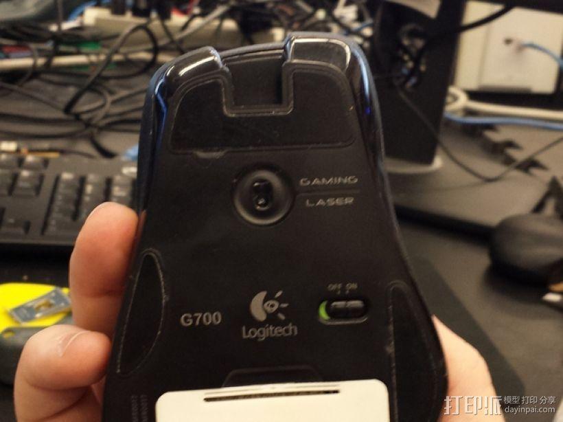 G700鼠标电池盖 3D模型  图1