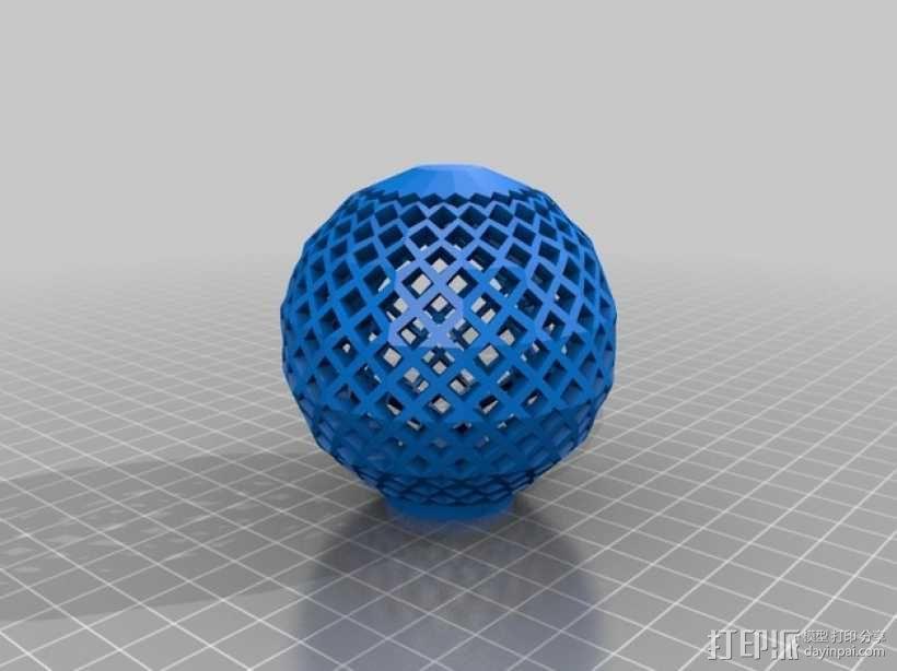 镂空球 3D模型  图1