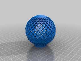 镂空球 3D模型
