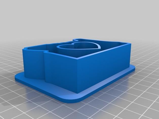 心形饼干制作模具 3D模型  图1