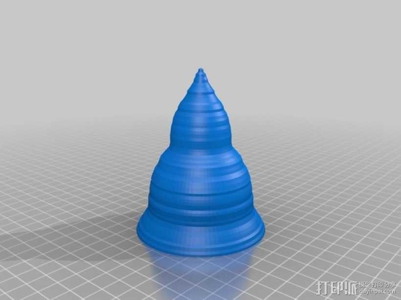 圆锥形冰淇淋托 3D模型  图1