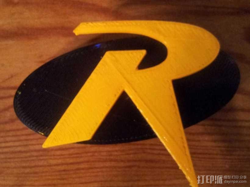 罗宾汉传奇R字 冰箱贴 3D模型  图1