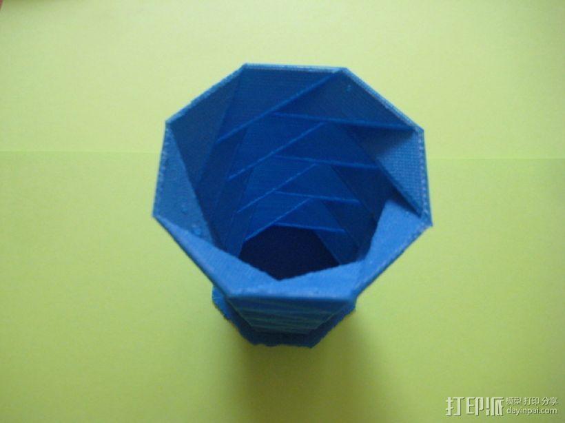 螺旋八边形花瓶 3D模型  图3