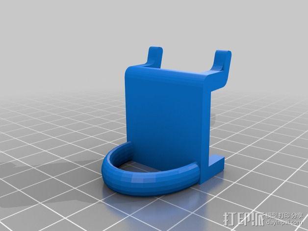 钉板固定夹 3D模型  图1
