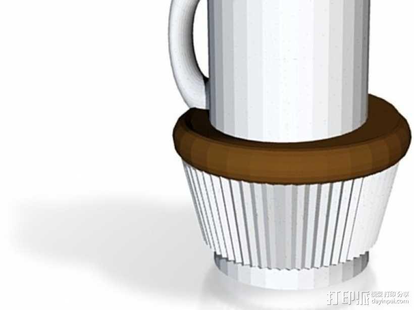 咖啡杯 蛋糕纸杯 3D模型  图1
