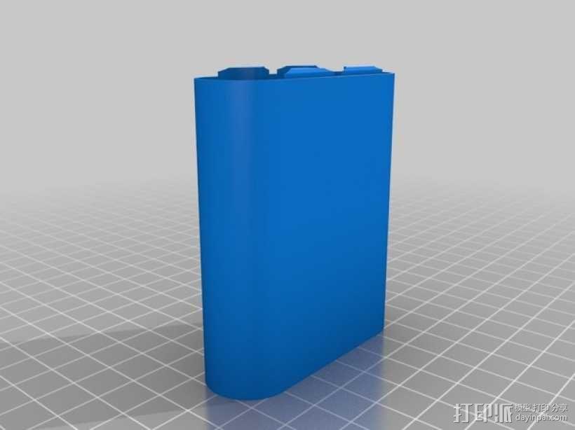 18650电池盒 3D模型  图1
