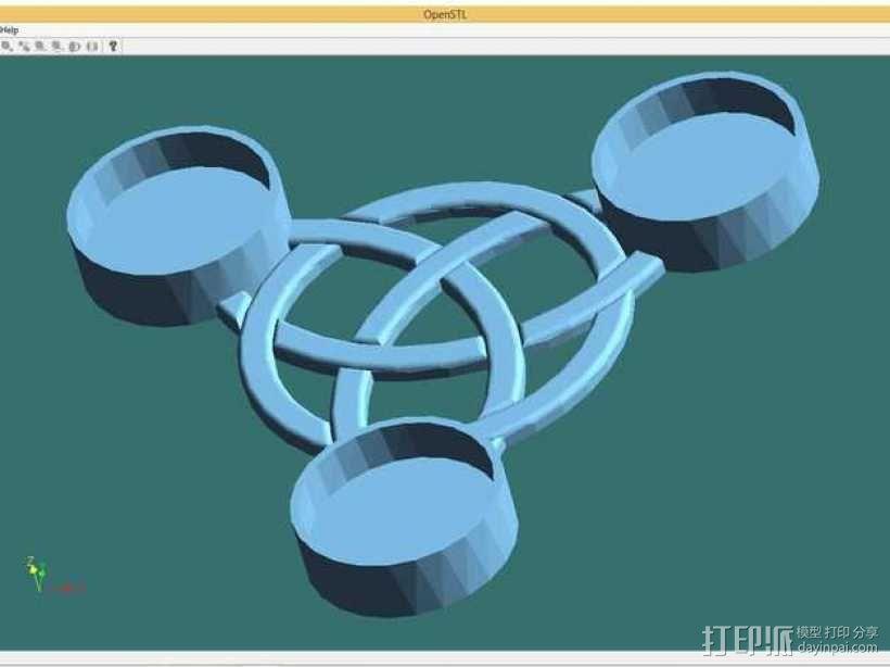 小圆蜡烛底座 3D模型  图1