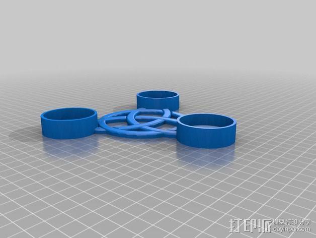 小圆蜡烛底座 3D模型  图2