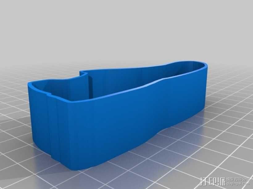 跑鞋 饼干模具 3D模型  图2
