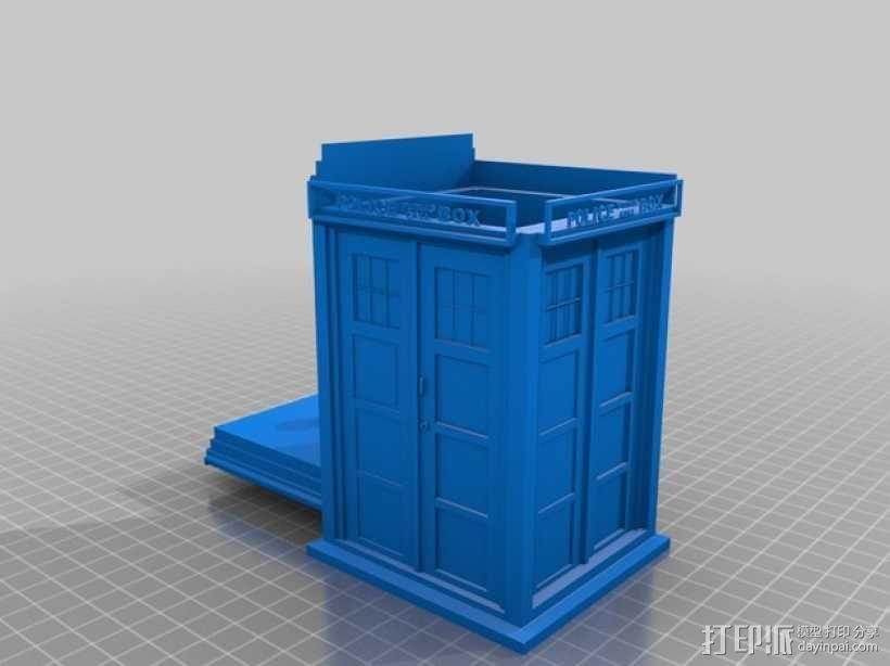 塔迪斯饼干罐 3D模型  图1