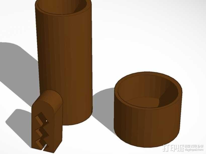 咖啡罐 袋装咖啡夹 3D模型  图1