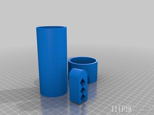 咖啡罐 袋装咖啡夹 3D模型  图2