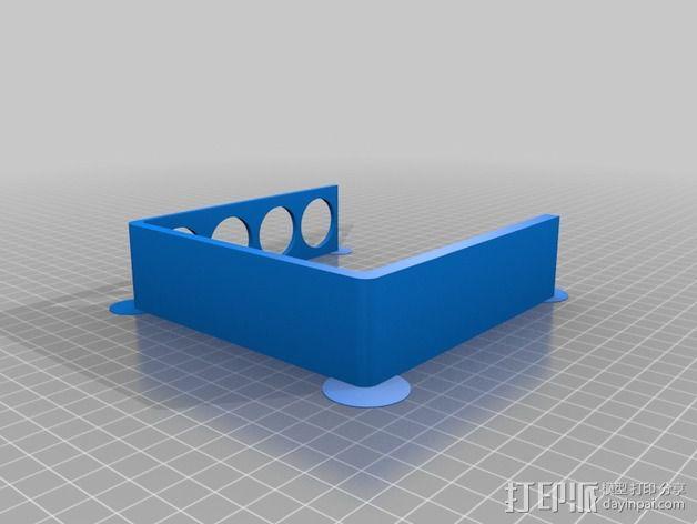 四孔牙刷架 3D模型  图3