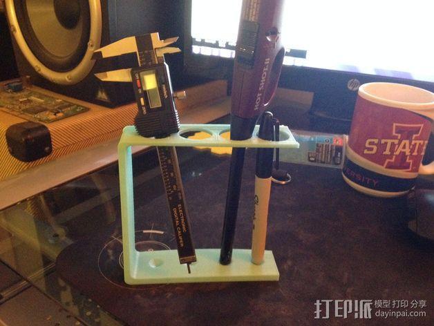 四孔牙刷架 3D模型  图2