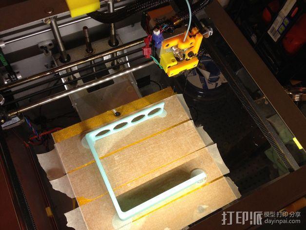 四孔牙刷架 3D模型  图4