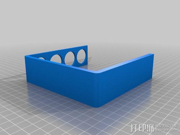 四孔牙刷架 3D模型  图5