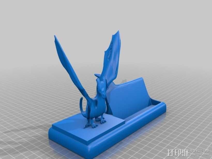 恐龙 名片盒 3D模型  图1