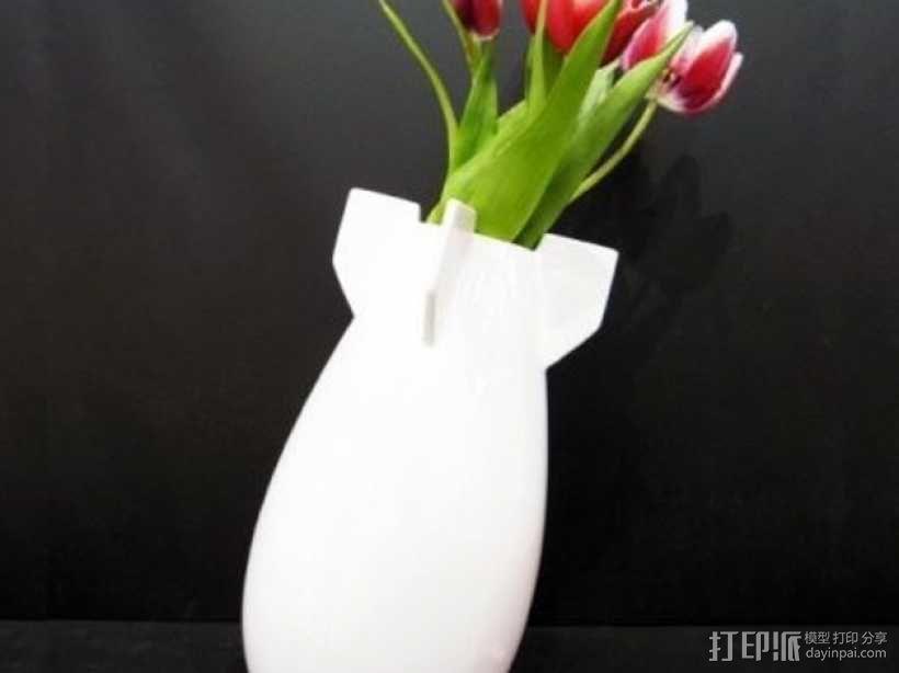 炸弹花瓶 3D模型  图1