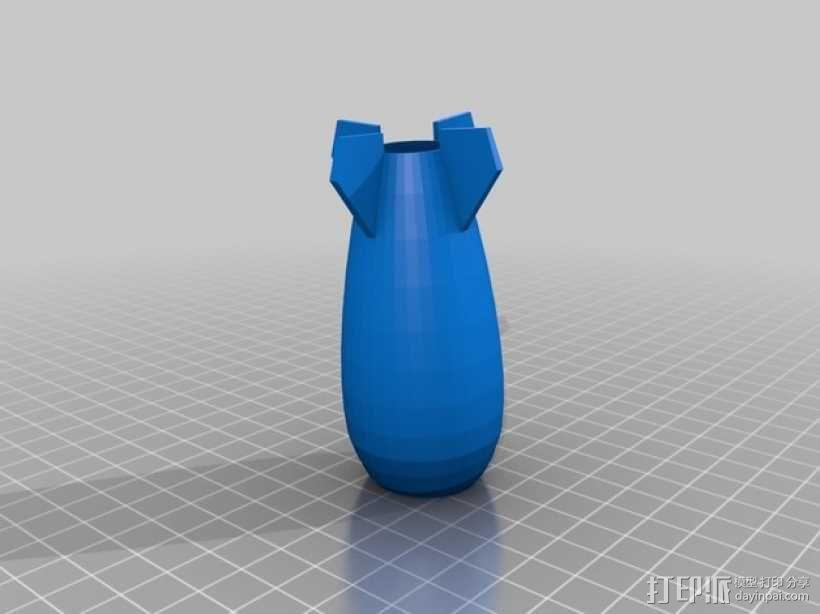 炸弹花瓶 3D模型  图2