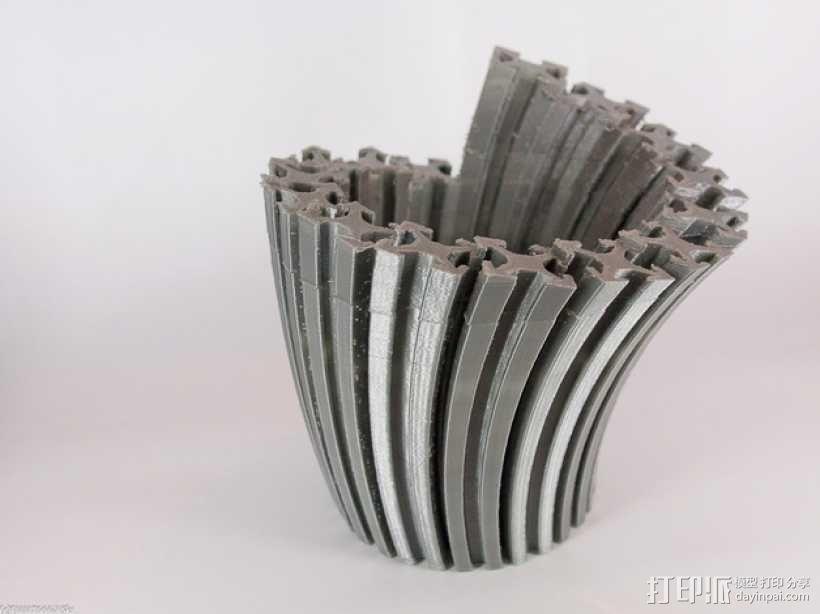 Makerbeam花瓶 3D模型  图1