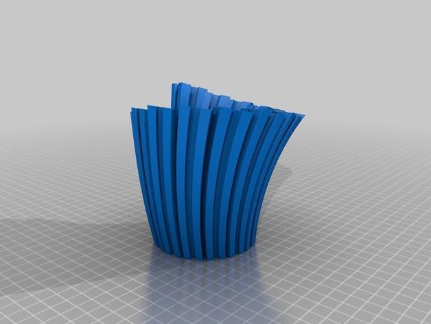 Makerbeam花瓶 3D模型  图2