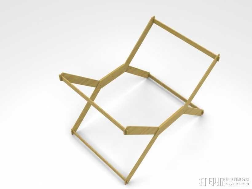 迷你A3纸纸架 3D模型  图1