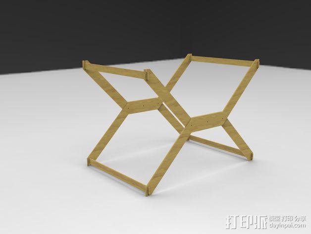 迷你A3纸纸架 3D模型  图5