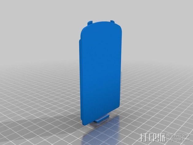 TI-84计算器电池盖 3D模型  图2